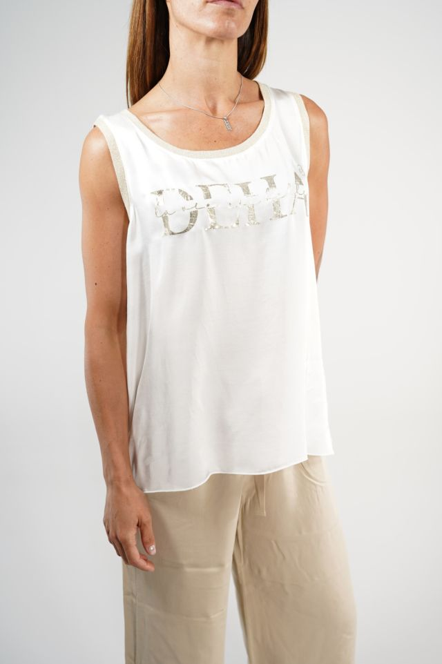 Deha Canotta D23140 Graphic Tank Top