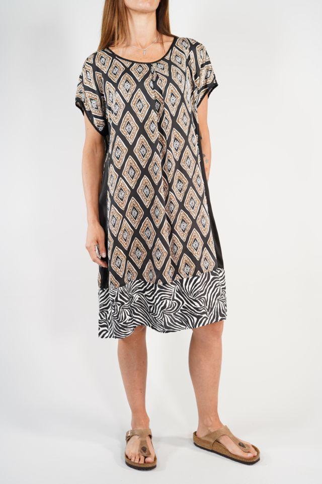 Deha Vestito D23248 Satin Dress