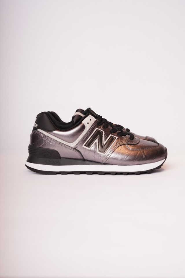 New Balance Sneakers 574 Metallic leather