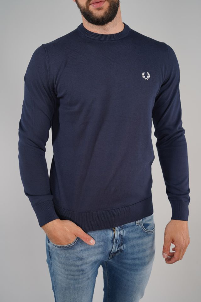 Fred Perry Maglione Classic Cotton Round Neck