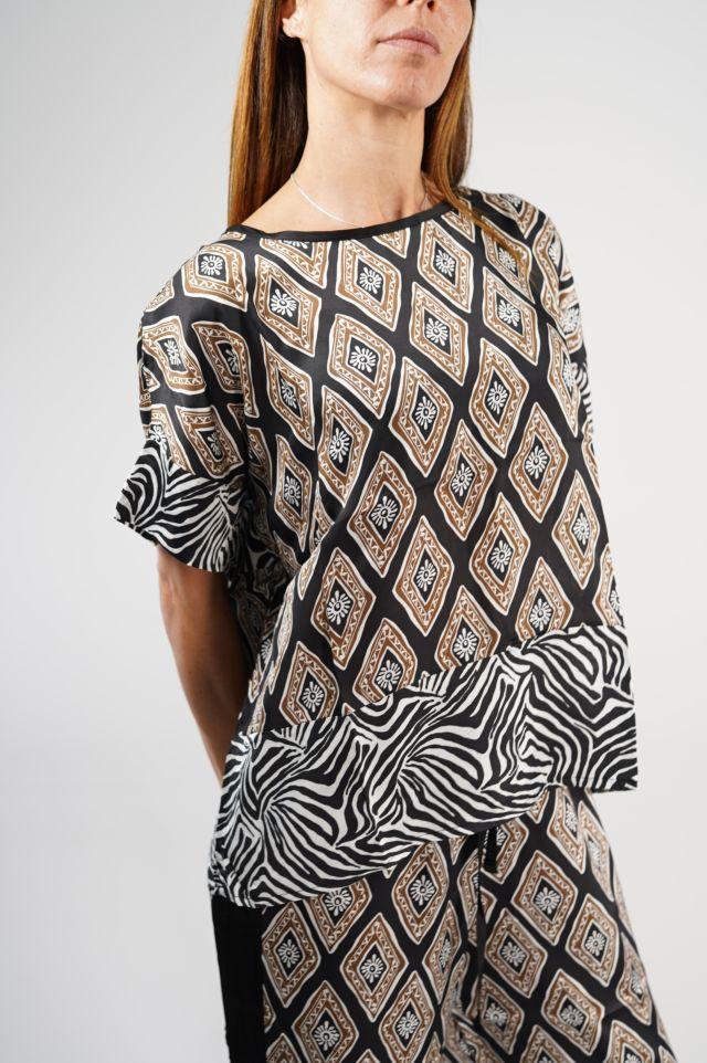 Deha T-shirt D23241 Satin T-shirt