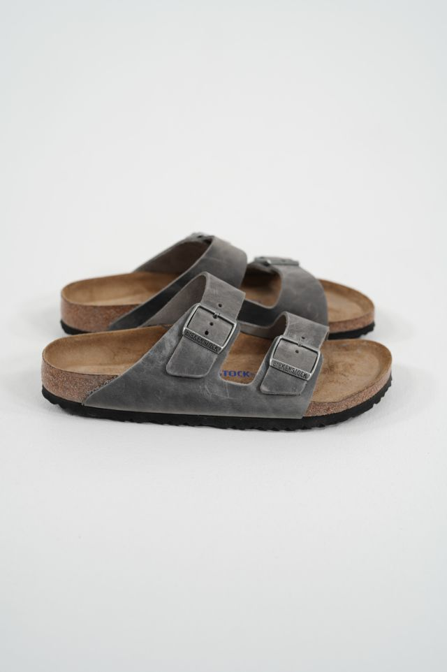 Birkenstock Arizona 1013645 SFB iron, Oiled Leather - Calz. S
