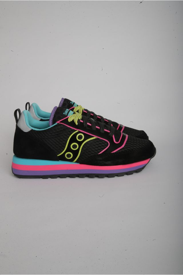 "Saucony JAZZ TRIPLE Woman ""NEON"" - SMU BLACK/NEON (S60568-1)"