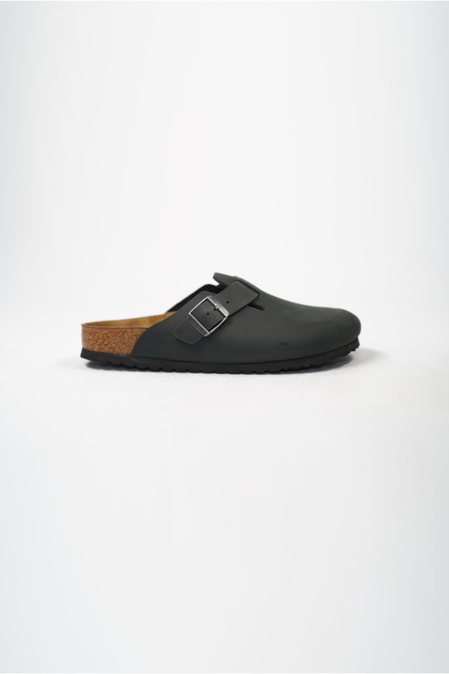 Birkenstock Sandali BOSTON OILED OILED LEATHER BLACK